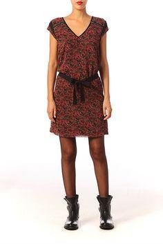 26dc4da331f Robe all over fleurie Laura Lipstick Ikks women sur MonShowroom.com
