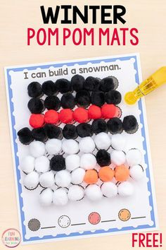 These winter fine motor mats are so much fun and sure to give your preschool and kindergarten students lots of fine motor practice! Christmas Worksheets, Christmas Math, Preschool Christmas, Preschool Winter, Snow Activities, Winter Activities For Kids, Motor Activities, Educational Activities, Free Preschool
