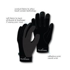 RunBreeze Performance Touch Running and Cycling Gloves