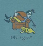 And this one too!  Will it be strange if my fall/winter 2011 wardrobe is ALL life is good tshirts?