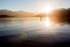 Stand up paddle boarding, Lake Wanaka, New Zealand. Camilla Rutherford Photography