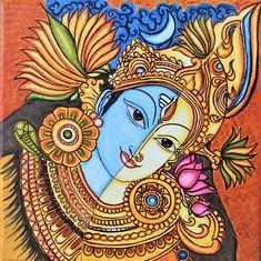 Kalamkari Painting, Madhubani Painting, Kerala Mural Painting, African Art Paintings, Madhubani Art, Indian Folk Art, India Art, Buddha Art, Art Drawings Sketches Simple