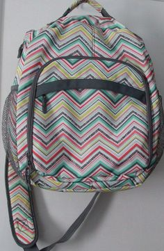 Thirty One 31 Organizing Bookbag Backpack With Insert Party Punch, cute! just $25 on eBay