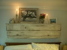 Distressed Furniture - Wall Shelf Ledge, Wood, Shabby Elegance, French Country, Distressed - via Etsy. Rustic Wooden Shelves, Wood Shelves, Floating Shelves, Floating Wall, Wall Shelving, Shelf Wall, Shelving Ideas, Shabby Chic Farmhouse, Shabby Cottage