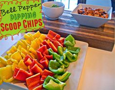 Bell Pepper Scoop Chips