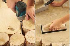 make a birch logs coffee table pic 2