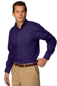 Edwards Men s Wrinkle Resistant Poplin Long Sleeve Casual Shirt 06b40ceb27db5
