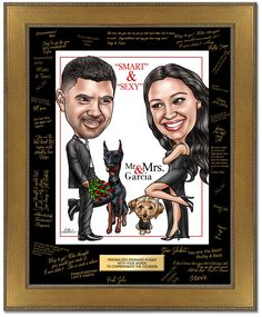 Custom Caricature From Photos Website - Personalized Custom Caricature Gifts