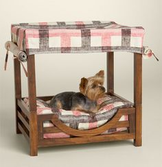Surprised my mom hasnt bought this for Lexi and Tribb yet. Juicy Couture Plaid Canvas Beach Cabana Pet Bed.