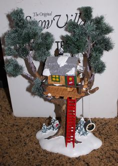 Department 56 The Original Snow Village TREETOP TREE HOUSE in Original Box