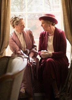 """Isobel: """"What should we call each other?"""" The Dowager Countess: """"Well, we could always start with Mrs. Crawley and Lady Grantham."""" Their friendship was so entertaining for me! I adore these two classy women."""