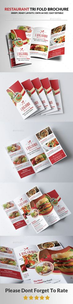Restaurant Tri Fold Brochure Template PSD. Download here: http://graphicriver.net/item/restaurant-tri-fold-brochure-/14597138?ref=ksioks