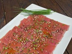 Receta de Sashimi de Atún con Soya