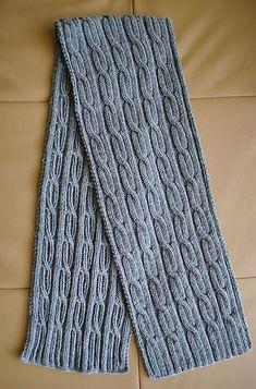 "Ravelry: Men's Scarf ""Cables"" pattern by Valentina Georgieva"
