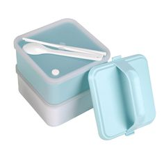New famouse brand Portable Lovely and sweet double Layers Bento high quality Lunch sets Plastic Food Container Lunch Container