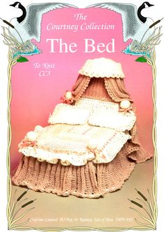 PDF Barbie Doll 'Victorian Lacy 4 Poster Bed' Knitting Pattern, Pelmet & Curtains, Valance, Pillow Set, Duvet Cover, Sindy, Fashion Dollx