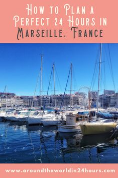 """Well, no one really needs me to convince them to go to Paris, but I urge you to give Marseille a try. It is a city with beautiful waters, fascinating history, charming museums, and delicious seafood. After a 24 hours in Marseille itinerary, I guarantee you'll be so enamored of the city, you'll want to sing """"La Marseillaise"""". #france #marseille"""