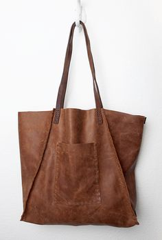 CIBADO leather bags....Entirely hand sewn brown leather soft slouchy tote. 98de1d9584