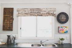 Colour Saturated Life | Wood Window Valance