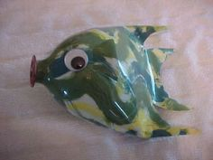 Soda Bottle Fish Craft Flatten | Instructions for fish made from two liter bottle