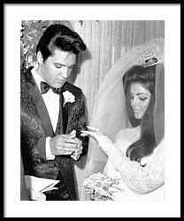 Elvis Presley Getting Married Framed Print by Retro Images Archive
