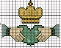 CROSS STITCHED CLADDAGH http://www.anastasiapollack.blogspot.com/2015/03/crafts-with-anastasia-cross-stitched.html