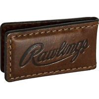 RAWLINGS NEW Brown Leather American Handcrafted Baseball Money Clip Wallet NWT