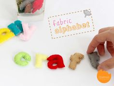 Cartamodello alfabeto minuscolo e maiuscolo in pannolenci.