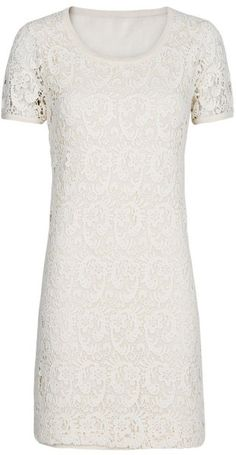 Mango Guipure Dress in White (neutral)