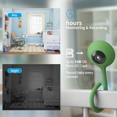 Smart Home Baby Monitor Crying Alarm Mini Wifi Camera HD Cloud Storage Infrared Wide Angle Vision IP Security Camera