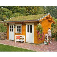 Skan Holz 45 mm Gartenhaus Lausanne | skanholz-onlineshop.de