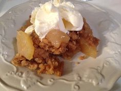 Quick and Easy Apple Crisp in the Bean Pot  This is DELICIOUS!!!  Click here to view the recipe. http://celebratinghomebynaominegron.blogspot.com/search/label/Apple%20Crisp