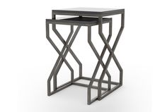 Otb Burundi Grey 2 Piece Set Nesting Side Tables - Signature
