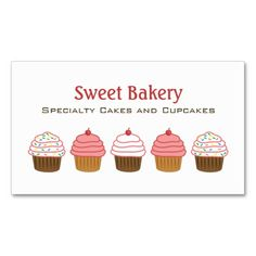 282 best cupcake business cards images on pinterest in 2018 bakery bakery cupcake business cards accmission Image collections
