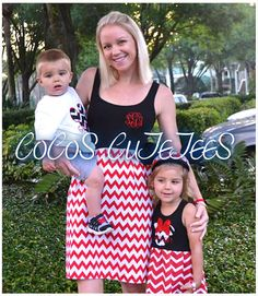 Mommy-N-Me Matching Disney Dresses-Ladies tank Chevron Monogram Dress-family photo matching outfits-matching mommy n me set on Etsy, $54.99