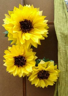 Girasoles de papel