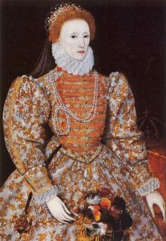 c 1575 Queen Elizabeth I 1533-1603 The Darnley Portrait, by an unknown artist.
