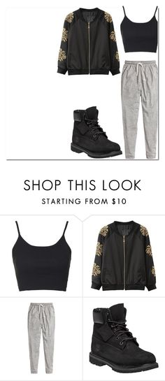 """Untitled #161"" by dreamer3108 on Polyvore featuring Topshop, H&M, Timberland, women's clothing, women's fashion, women, female, woman, misses and juniors"