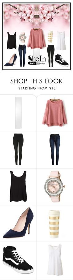 """""""Dream. Wish. Do."""" by my-style-xo ❤ liked on Polyvore featuring Topshop, Vero Moda, Ted Baker, Kate Spade, Vans, T By Alexander Wang, vintage, contest and shein"""