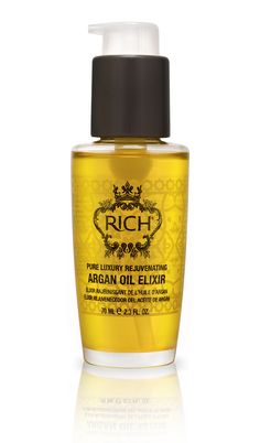 RICH Pure Luxury Argan Oil Elixir and Sure Hold Hairspray review by Turning Pretty
