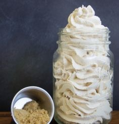 Make this easy fluffly brown sugar icing to top cakes, cookies, or even fruit!