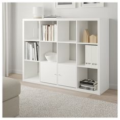 KALLAX Shelf unit, white is part of Ikea Living Room Kallax - Choose whether you want to place it vertically or horizontally to use it as a shelf or sideboard Etagere Kallax Ikea, Ikea Kallax Shelf Unit, Kallax Shelving Unit, Cube Shelves, Ikea Shelves, Ikea Storage, Ikea Regal, Ikea Kallax Regal, New Room