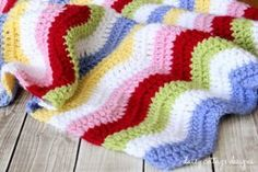 Rainbow Ripple Baby Blanket