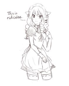 Same character, this time shown in a maid costume by Akainai
