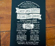 Emily & Michael Braman Wedding Invitation