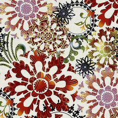 Camelot Medium Floral Collage Red Multi by Jason Yenter