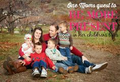 One moms quest to be more present in her kids lives.