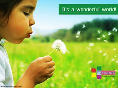 There are no seven wonders of the world in the eyes of children. There are seven million!