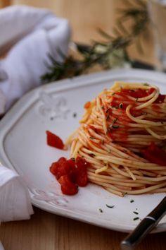 Spicy Rosemary Spaghetti
