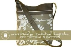 cross body purse pattern free | CrossBody Pocketed Hipster PDF Tutorial & by thesterlingowl